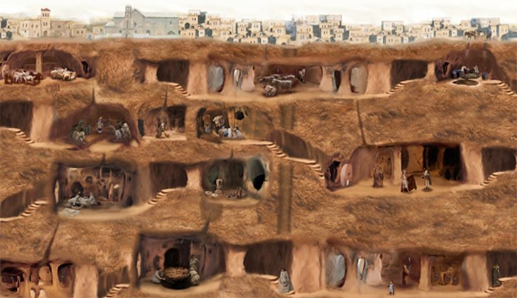 an analysis of the underground city of derinkuyu in ancient subterranean cities