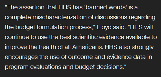 The Health and Human Services Will Continue Using these Banned Words in Lieu of Scientific Work