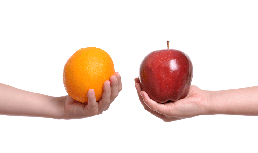 An Orange Has Different Properties Than Apple. Likewise Don't Compare Yourself to Others