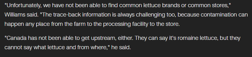 the CDC Is Hopeful That They Can Get a Sample of the Said Lettuce for Clinical Trial