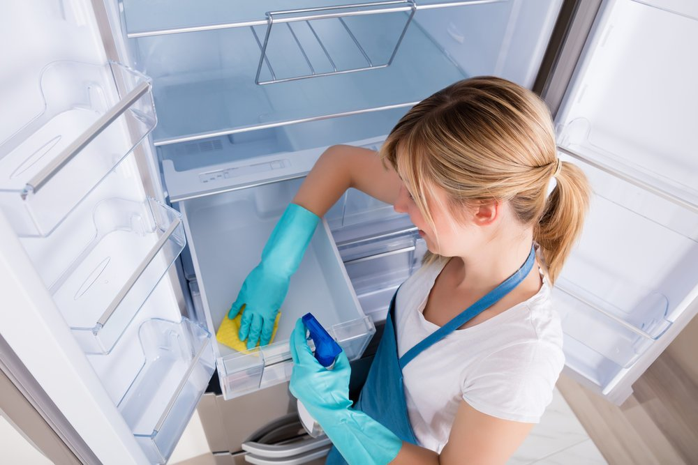 Make sure to clean every nook and cranny of the fridge to make sure you don't miss any dirty spots when cleaning.