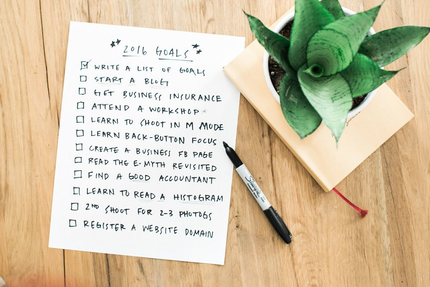 Start listing all your goals according to priority and accomplish them step by step to keep track of your progress and milestones.