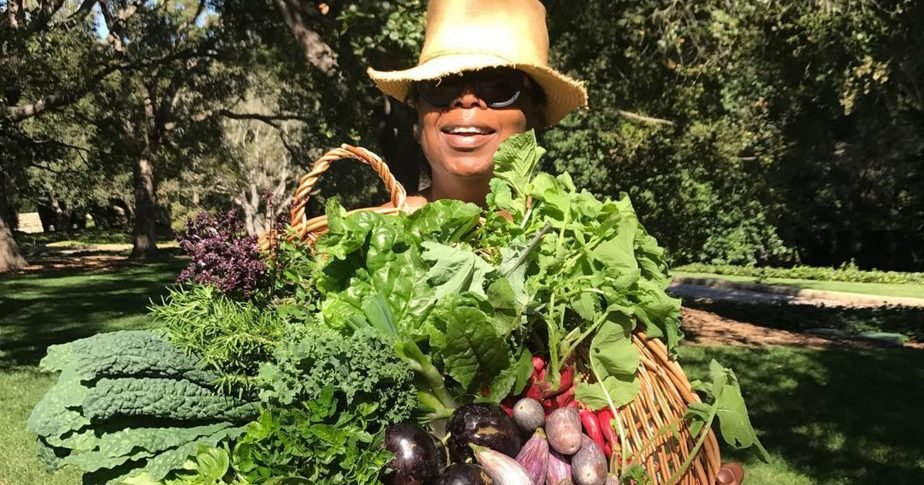 Oprah also shared a glimpse of her orchard garden to her fans to promote healthy living.