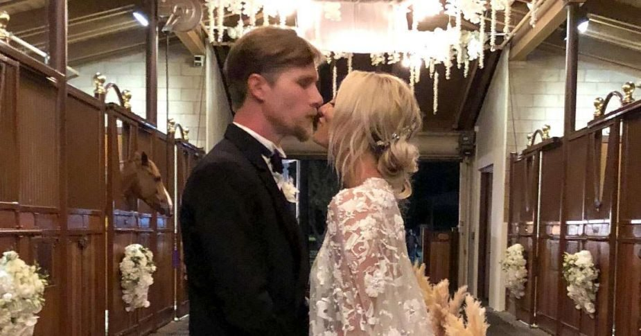 Cuoco and Cook got married in June 2018 as they had their intimate wedding in one of San Diego's horse stables.